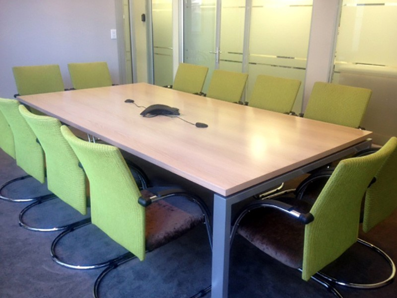 Veneer Boardroom Table with Supporting Frame