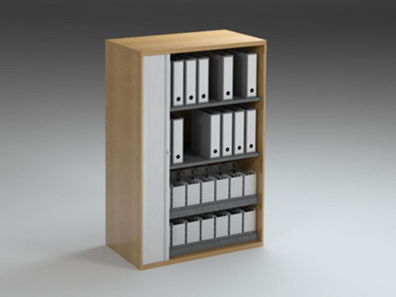 Roller Door Storage Module 1495X1000MM with Leverarch & Box Files