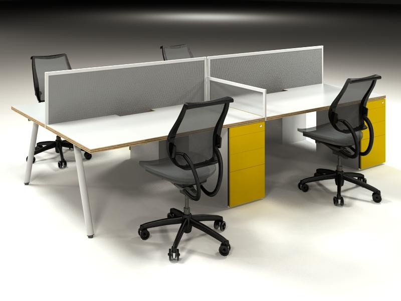 Clerical workstations with A-frame legs
