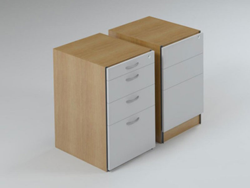 Pedestal with Deep Filer & Stationery Drawers