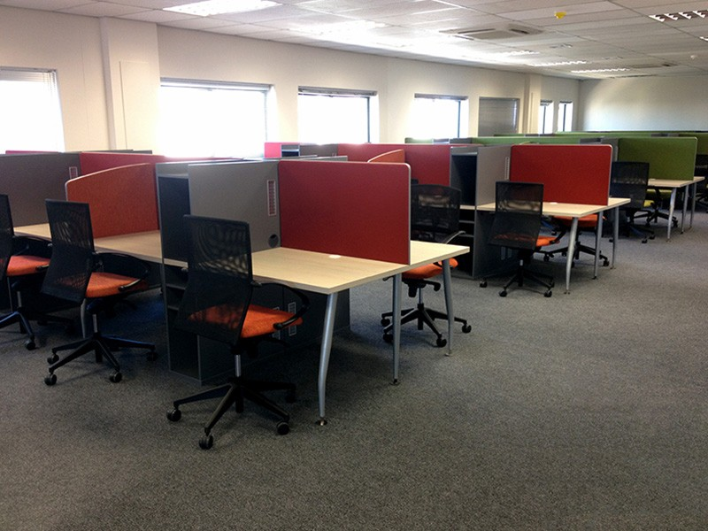 Call Centre Desks with Shared Storage