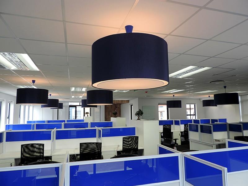 Call Centre Desks with Perspex Screens