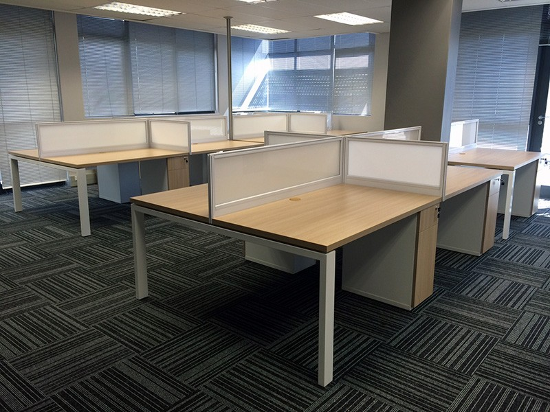 Cluster Desks with Perspex Dividers