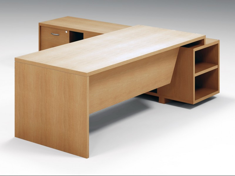 Executive Desk with Side Unit