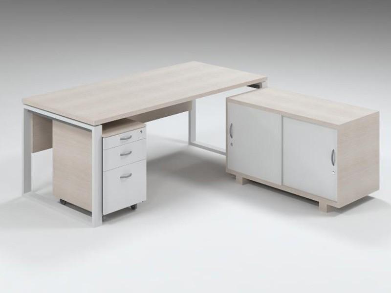Executive desk with box frame