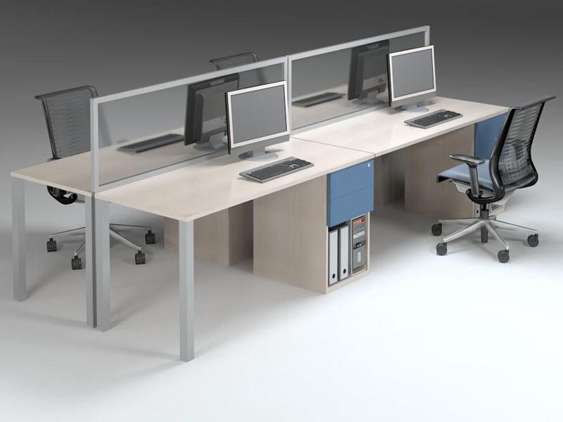 Basic cluster desks with dayfilers