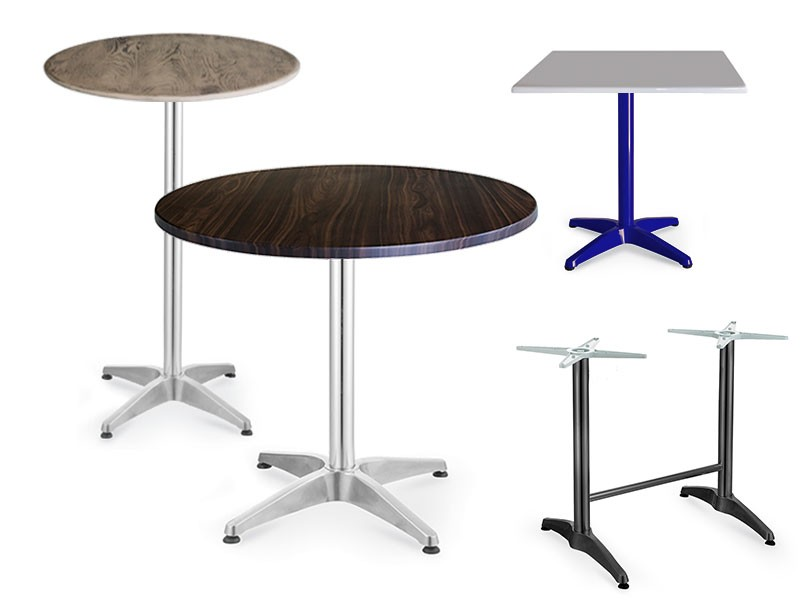 Canteen tables with pedestal base