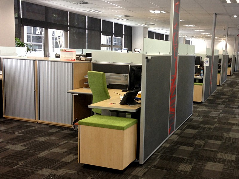 Open Plan Office with Floor Based Screens